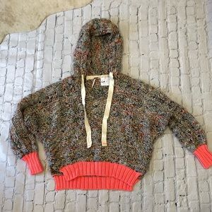 NWT Free People oversized knit hoodie